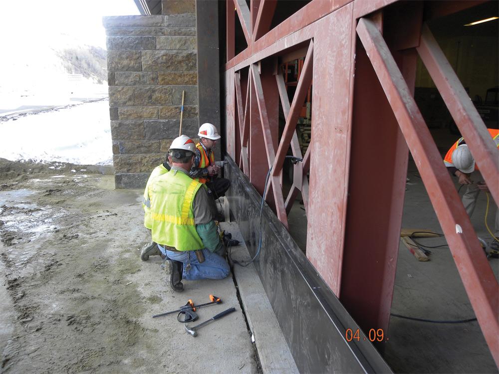 Commercial Garage Door Construction Project