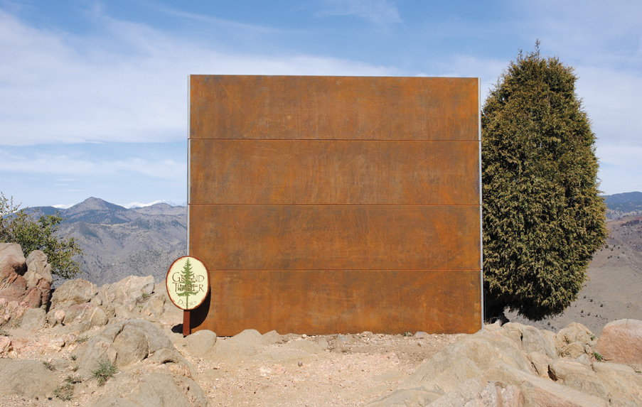 Corten Steel Garage Door