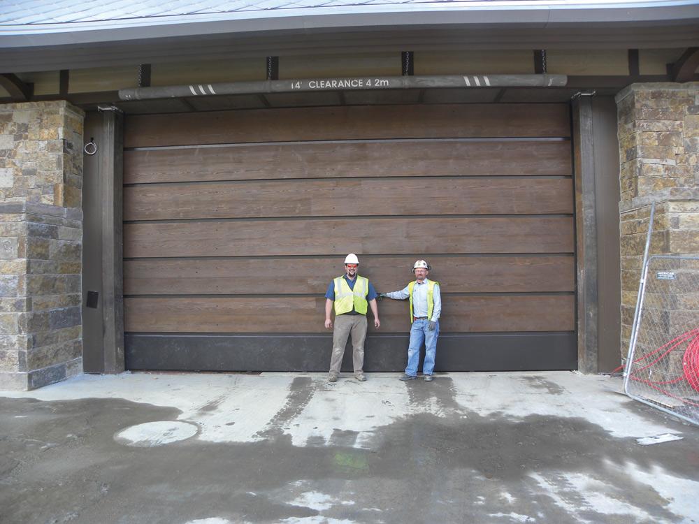 Custom Wooden Commercial Garage Doors