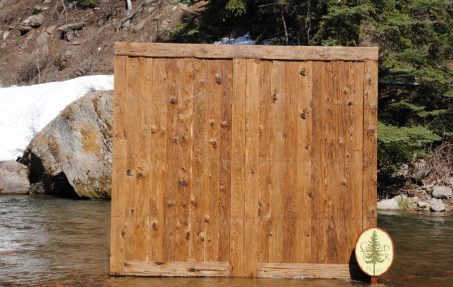 Mushroom Wood Garage Doors
