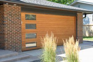 Modern home garage door from Grad Timber Doors