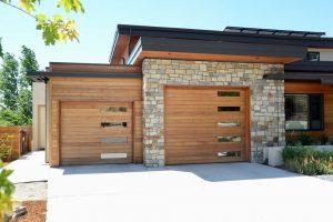 Modern home garage doors from Grad Timber Doors