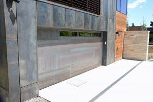 Custom modern garage door from Grad Timber Doors