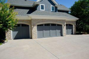 Custom home garage door from Grad Timber Doors